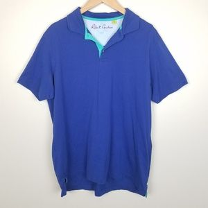 Robert Graham Blue Collared Polo Size XL